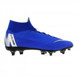 Mercurial Superfly VI Elite Anti-Clog SG-Pro bleu