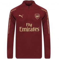 Sweat zippé Arsenal rouge 2018/19