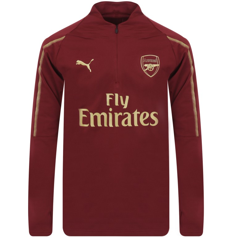 Sweat zippé Arsenal rouge 2018/19