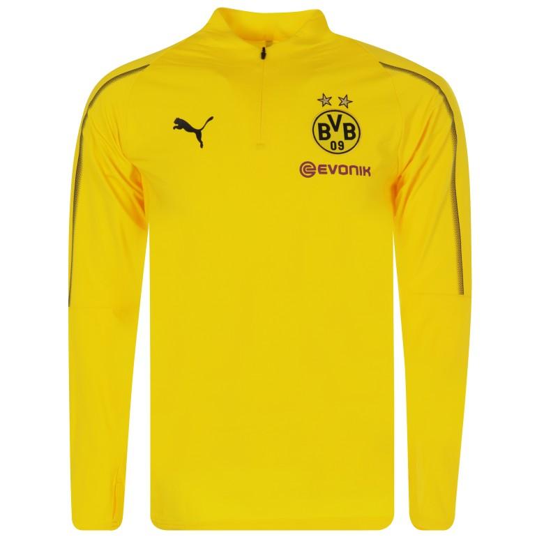 Sweat zippé Dortmund jaune 2018/19