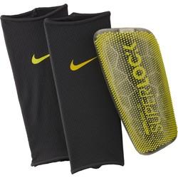 Protège tibias Nike Mercurial Lite SuperLock jaune 2018/19