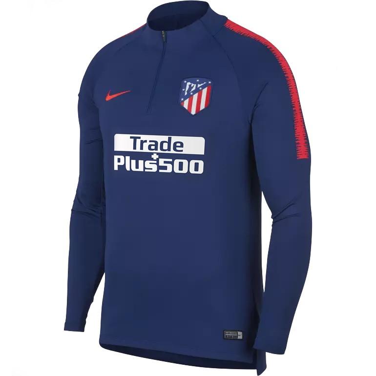 Sweat zippé Atlético Madrid bleu 2018/19