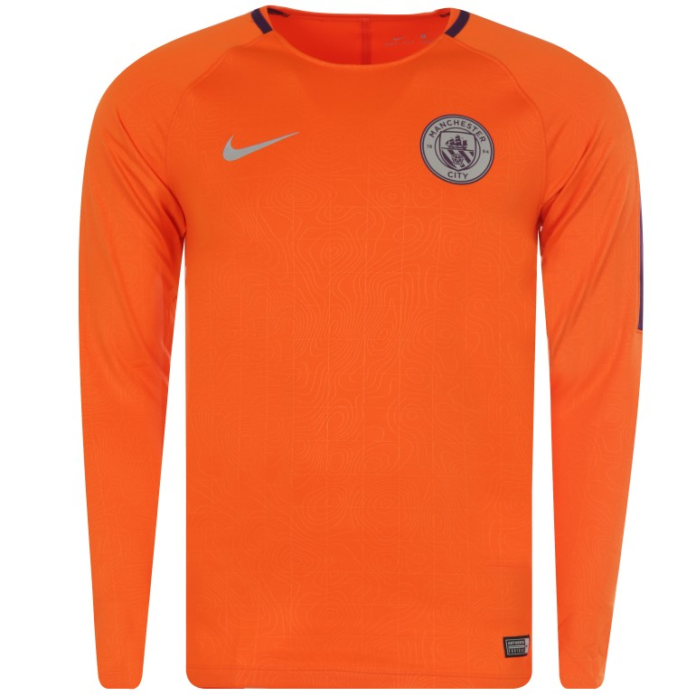 Sweat entraînement Manchester City orange 2018/19