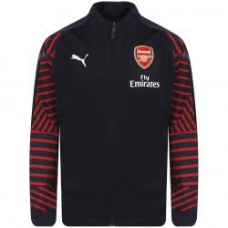 Veste survêtement junior Arsenal bleu rayé rouge 2018/19