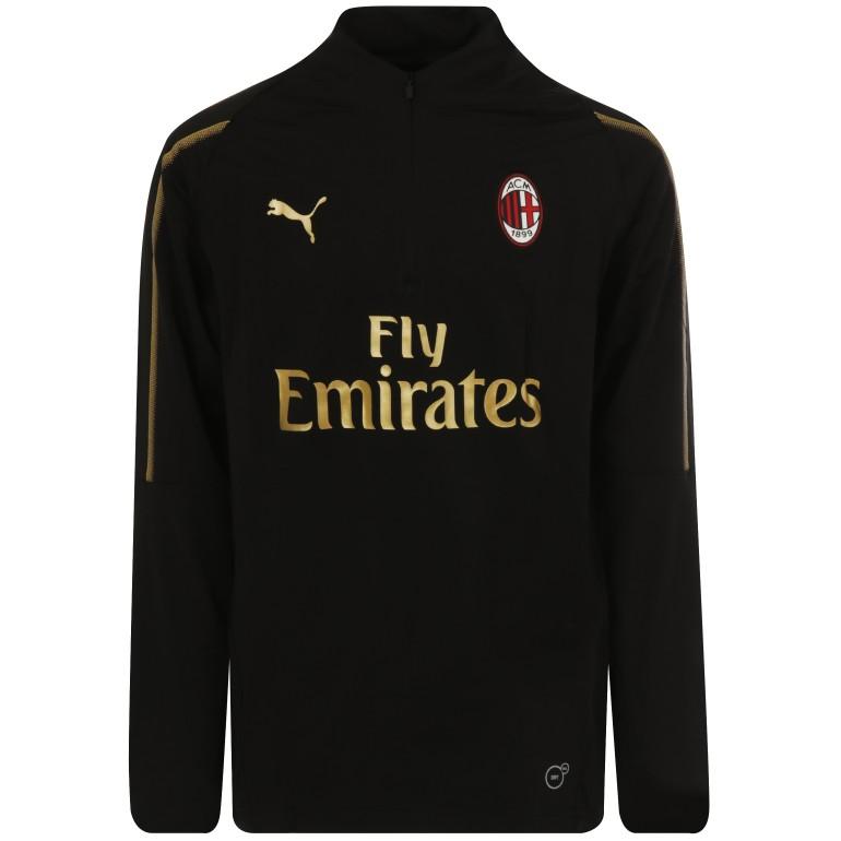 Sweat zippé junior Milan AC noir or 2018/19