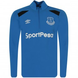 Sweat zippé Everton bleu 2017/18