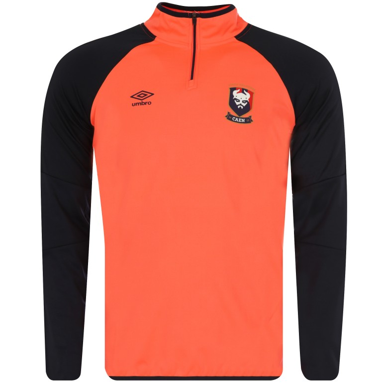 Sweat zippé SM Caen orange 2017/18