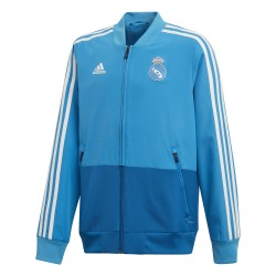 Sweat entraînement junior Real Madrid bleu ciel 2018/19