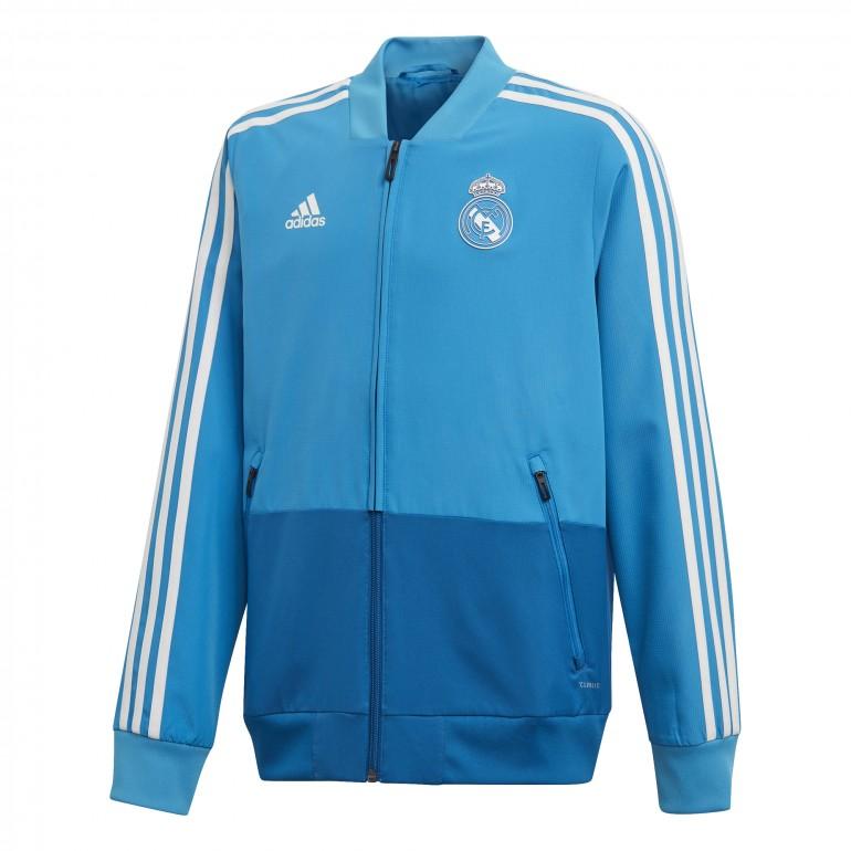 Veste entraînement junior Real Madrid bleu ciel 2018/19