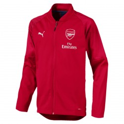 Veste entraînement junior Arsenal rouge 2018/19