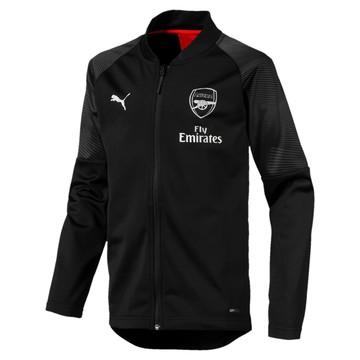 Veste entraînement junior Arsenal noir 2018/19