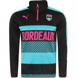 Sweat zippé Bordeaux noir rose 2017/18