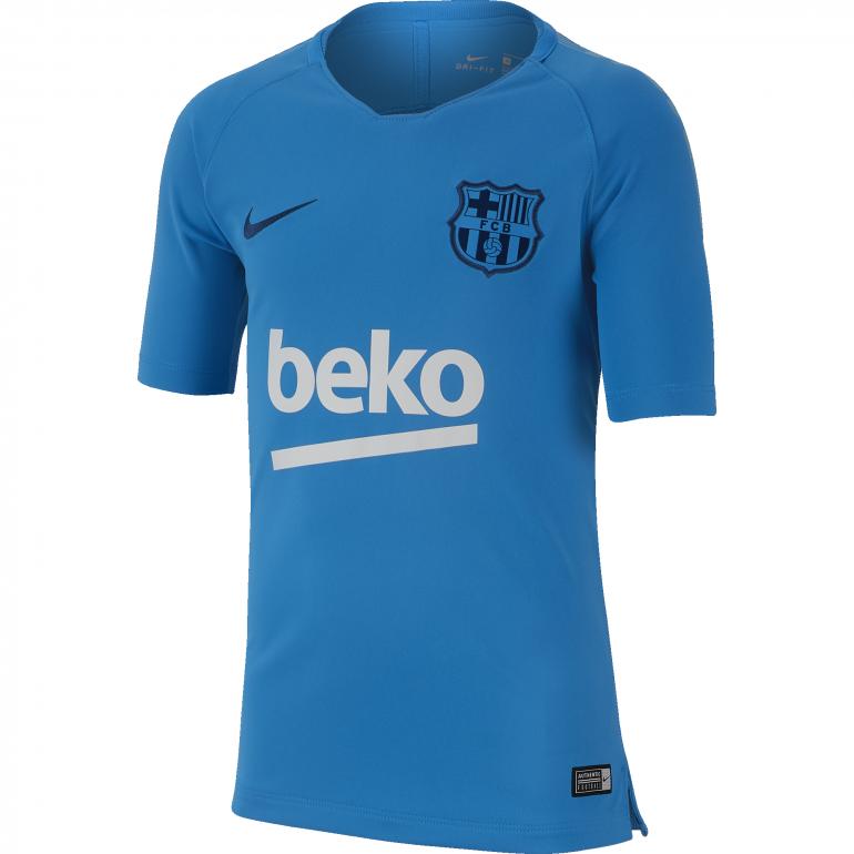 Maillot entraînement junior FC Barcelone bleu ciel 2018/19