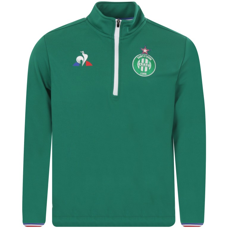 Sweat zippé junior ASSE vert 2018/19