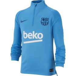 Sweat zippé junior FC Barcelone bleu ciel 2018/19