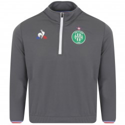 Sweat zippé junior ASSE gris 2018/19