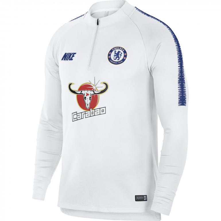 Sweat zippé Chelsea blanc 2018/19