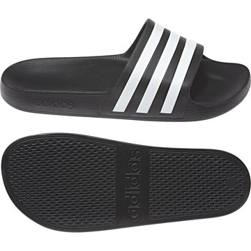 Sandales ADILETTE AQUA noir blanc