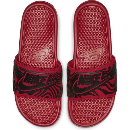 Sandales Nike Benassi graphic rouge 2018/19