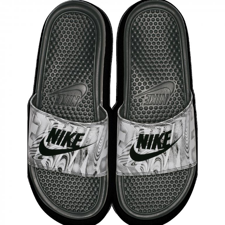 Sandales Nike Benassi graphic blanc 2018/19