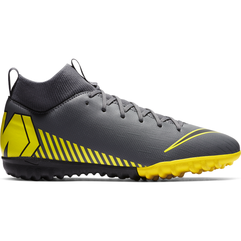 Mercurial SuperflyX VI junior Academy Turf gris jaune
