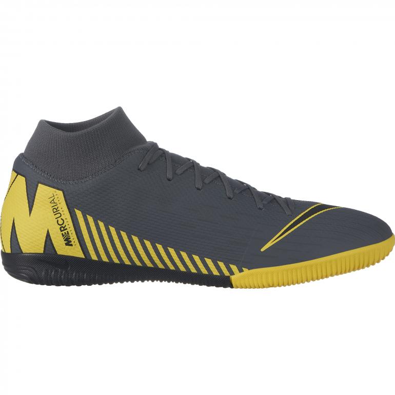 Mercurial SuperflyX VI Academy Indoor gris jaune