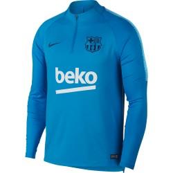 Sweat zippé FC Barcelone bleu ciel 2018/19