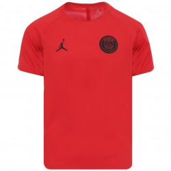 Maillot entraînement junior PSG Jordan Squad rouge 2018/19