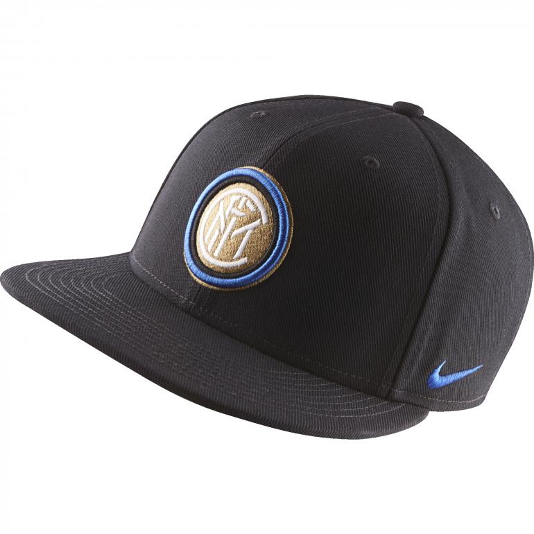Casquette visière plate Inter Milan noir