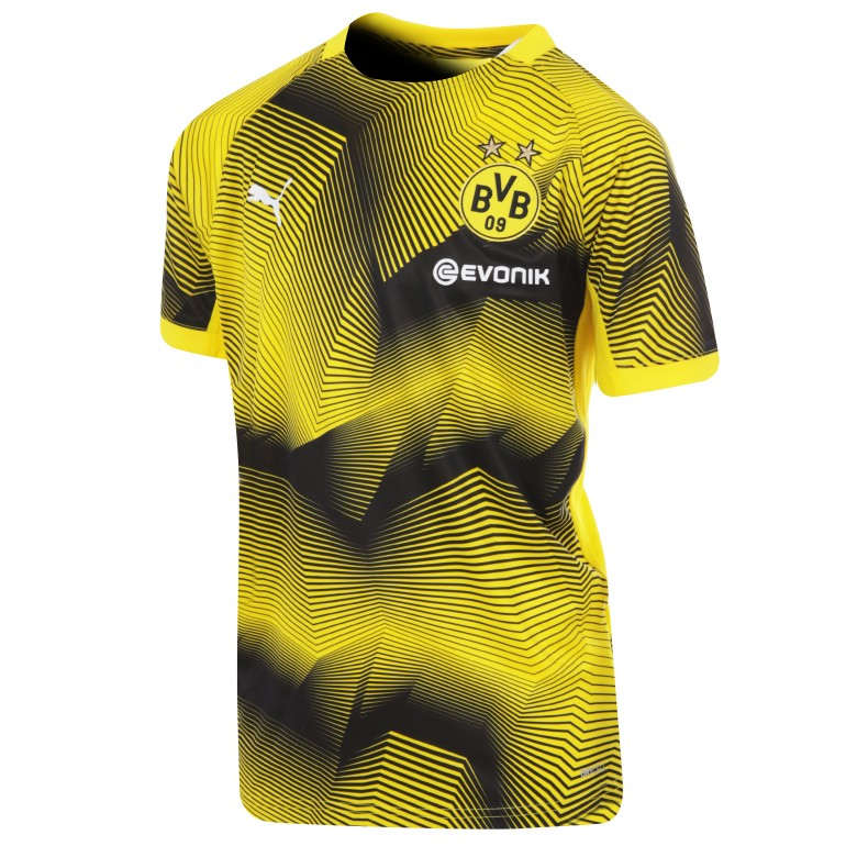 Maillot entraînement junior Dortmund graphic jaune 2018/19