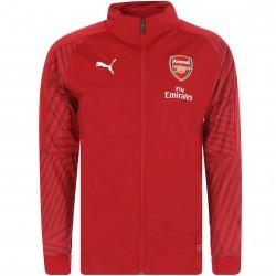 Veste survêtement Arsenal rayé rouge 2018/19