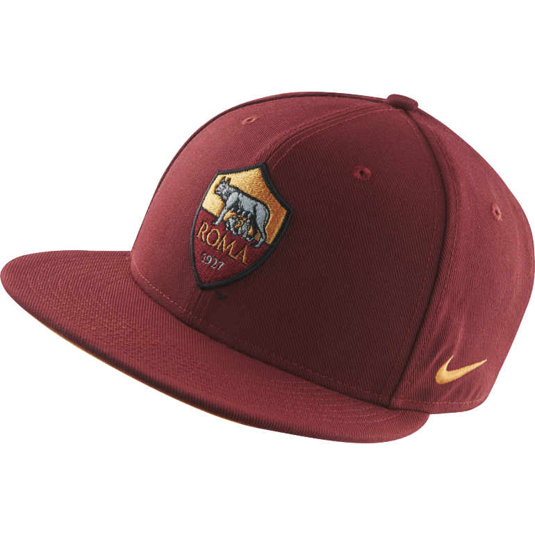 Casquette visière plate AS Roma rouge