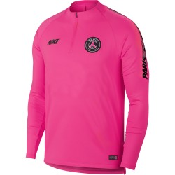 Sweat zippé PSG rose 2018/19