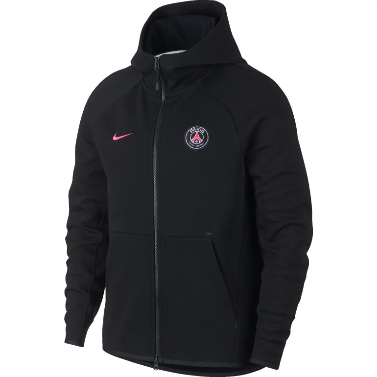 Veste survêtement junior PSG Tech Fleece noir rose 201819