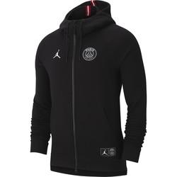 Veste survêtement PSG Jordan molleton noir 2018/19