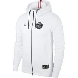 Veste survêtement PSG Jordan molleton blanc 2018/19