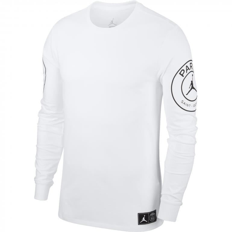 T-shirt manches longues PSG Jordan blanc 2018/19