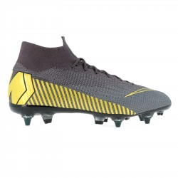 Mercurial Superfly VI Elite Anti-Clog SG-Pro gris jaune