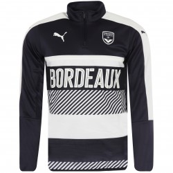 Sweat zippé junior Bordeaux bleu 2017/18