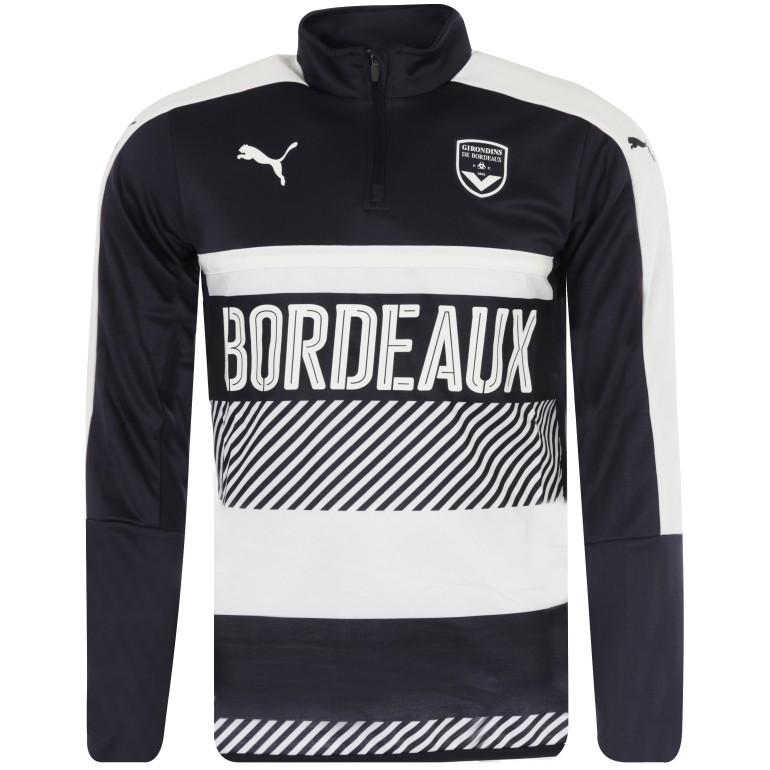 Sweat zippé junior Bordeaux bleu 2017/18