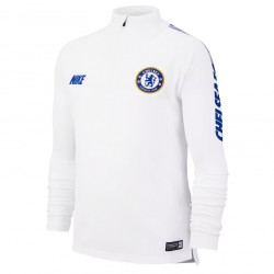 Sweat zippé junior Chelsea blanc 2018/19