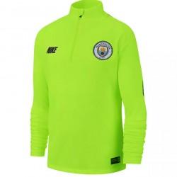 Sweat zippé junior Manchester City jaune 2018/19