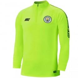 Sweat zippé Manchester City jaune 2018/19