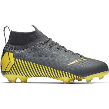 Mercurial Superfly VI junior Elite FG gris jaune