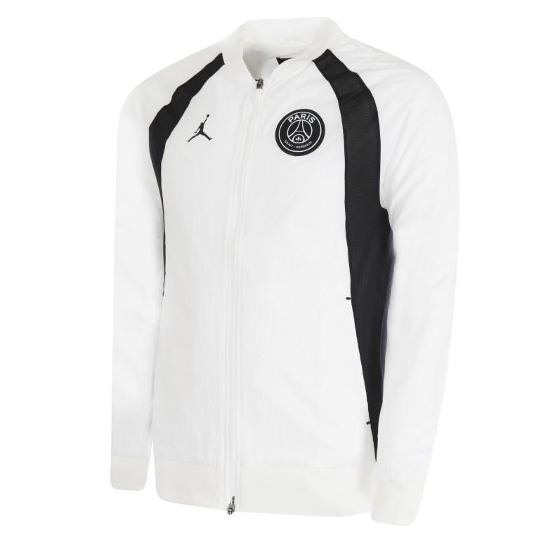 Veste survêtement PSG Jordan microfibre blanc 2018/19