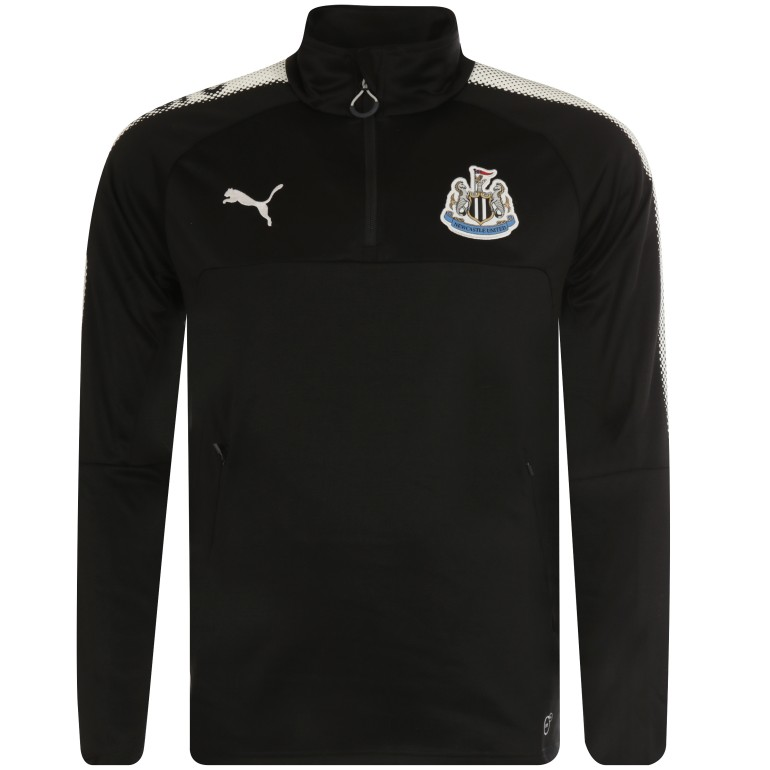 Sweat zippé Newcastle noir 2017/18