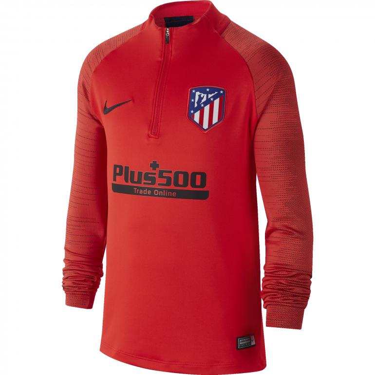 Sweat zippé junior Atlético Madrid rouge noir 2019/20