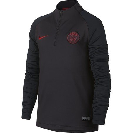 Sweat zippé PSG junior noir rouge 2019/20