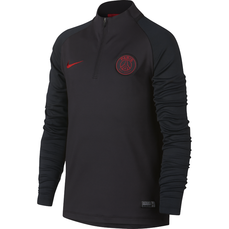 Sweat zippé PSG junior noir rouge 2019/20