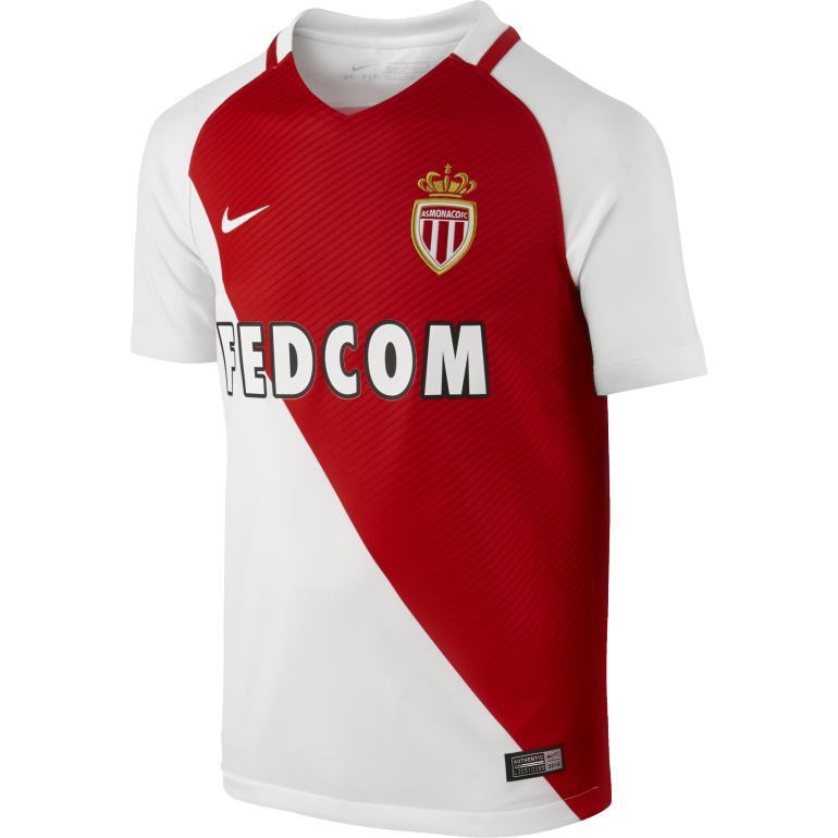 Maillot junior AS Monaco domicile 2016 - 2017
